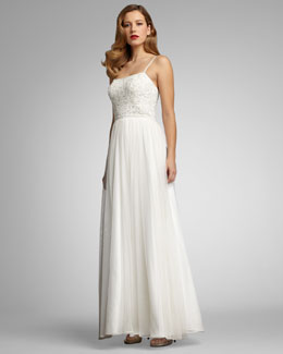 Aidan Mattox Beaded Organza Gown