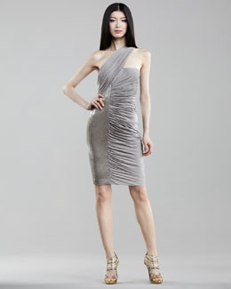 J. Mendel Ruched Jersey Dress, Zinc