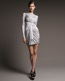 J. Mendel Ruched Jersey Dress