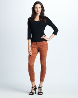 Joe's Jeans The High Water Adobe Ikat-Print Jeans