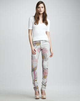 Joe's Jeans The Skinny Blooming Floral Jeans