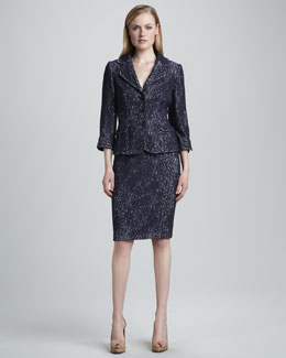 Kay Unger New York Two-Piece Crochet Suit