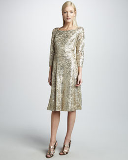 David Meister Women's Metallic Dress, Women's