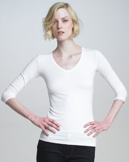 NM Luxury Essentials Soft Touch Jersey Top