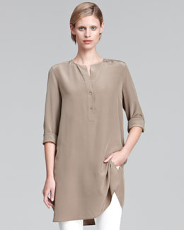 Vince Long Silk Tunic