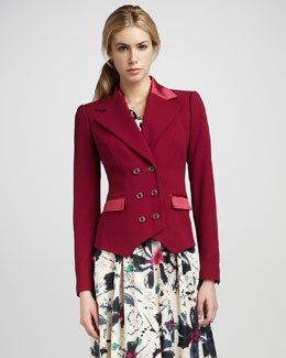 Rachel Zoe Lou Double-Breasted Jacket