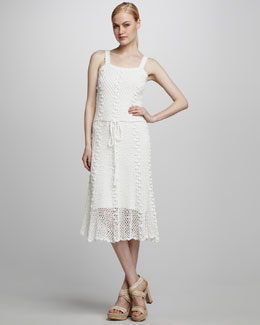 Milly Crochet Overlay Dress
