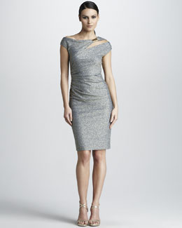 David Meister Asymmetric Cocktail Dress