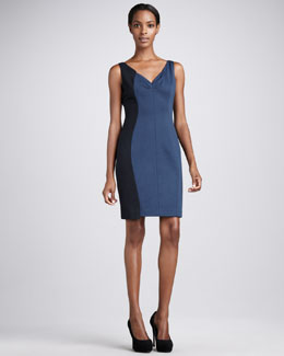 Elie Tahari Brenda Colorblock Dress