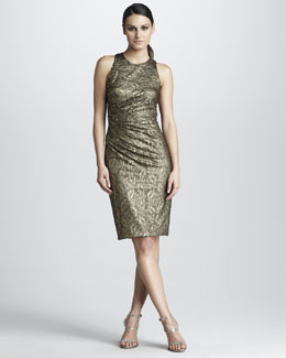 David Meister Signature Lace-Jacquard Dress