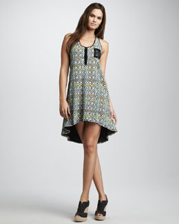 Elizabeth and James Avena Printed High-Low Dress