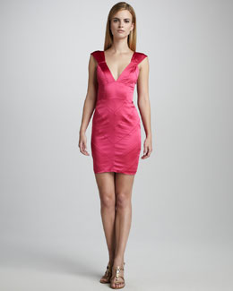 Vera Wang Lavender Charmeuse Cocktail Dress