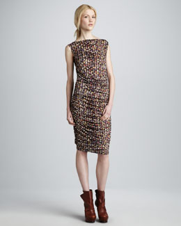 Catherine Malandrino Balcony-Print Dress