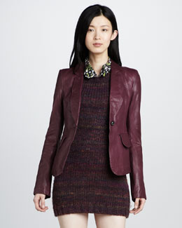 Rachel Zoe Daphne Leather Blazer