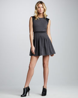 Rebecca Taylor Flare-Skirt Ponte Dress
