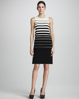 Adrienne Vittadini Striped Tank Dress