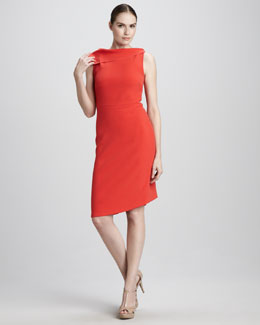 Rachel Roy Drape-Neck Dress