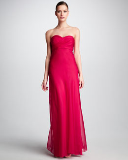 Phoebe Couture Strapless Sweetheart Gown