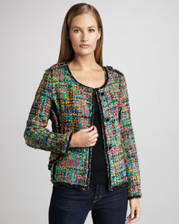 Berek Colorful Crayons Boucle Jacket, Women's