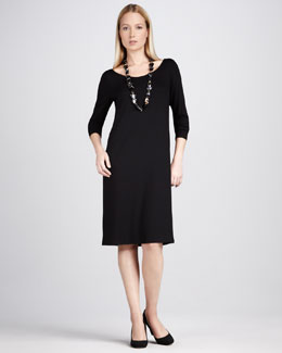 Eileen Fisher Jersey Scoop-Neck Dress, Petite