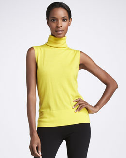 Lafayette 148 New York Basic Sleeveless Turtleneck