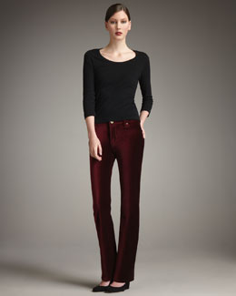 Christopher Blue Goodwin Boot-Cut Velvet Pants