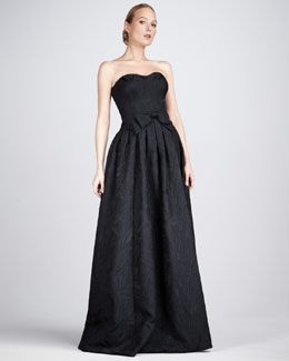 David Meister Signature Jacquard Sweetheart Gown