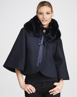 Elie Tahari Exclusive for Neiman Marcus Nadja Faux Fur Coat