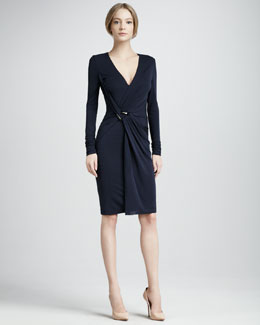 Halston Heritage Jersey Wrap Dress