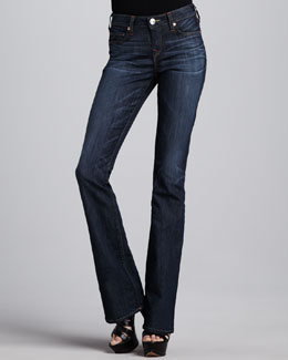 True Religion Toni Luckdrawn Micro Boot-Cut Jeans