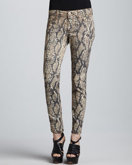 DL 1961 Premium Denim Emma Slither Snake-Print Leggings