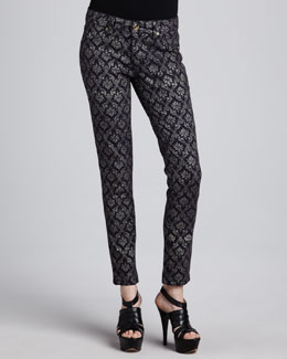 DL 1961 Premium Denim Bag Snob Essentials Emma Ornate Printed Leggings