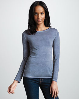 NM Luxury Essentials Long-Sleeve Slub Tee