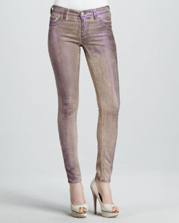 True Religion Halle Purple Metallic Legging Jeans