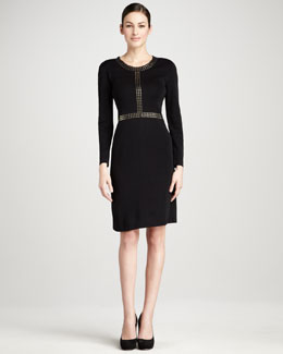 Misook Collection Golden-Studded Dress, Women's