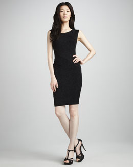 Alice + Olivia Annabele Shimmery Fitted Dress
