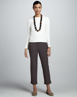 Eileen Fisher Twill Ankle Pants