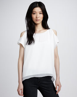 Alice + Olivia Open-Shoulder Top