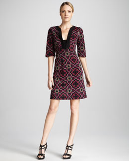 Melissa Masse Tile Print Caftan Dress