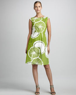 Melissa Masse Printed Canvas Dress