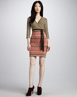 Trina Turk Blythe Mix-Pattern Dress