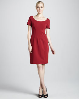 Elie Tahari Bernice Short-Sleeve Dress