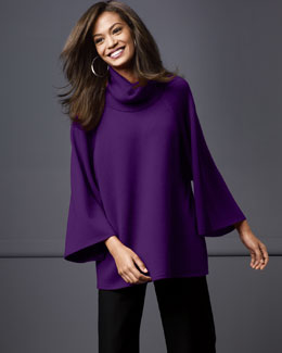 Eileen Fisher Turtleneck Poncho Top, Women's