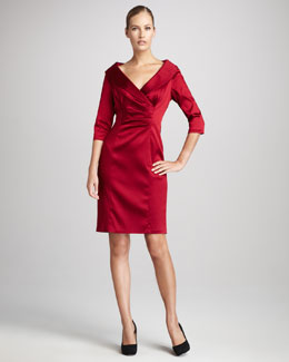 Kay Unger New York Women's Women's Shawl-Collar Cocktail Dress