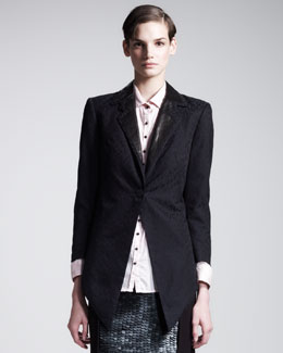 Kelly Wearstler Metropolis Leather-Lapel Tuxedo Jacket