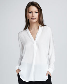 Vince Half-Placket Blouse