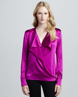 Ramy Brook Lucy Buckled Wrap Top