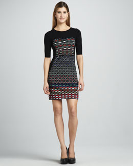 M Missoni Diamond Striped Dress