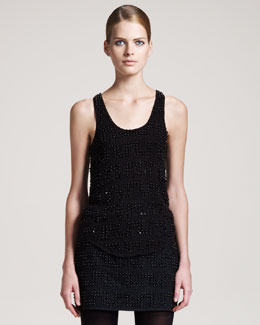 Gryphon New York Candy Dots Beaded Tank