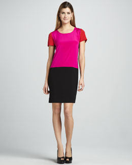 DKNY Colorblock Drop-Waist Dress